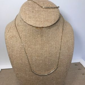 Chloe + Isabel Jewelry - Pave curved Bar necklace and bracelet set